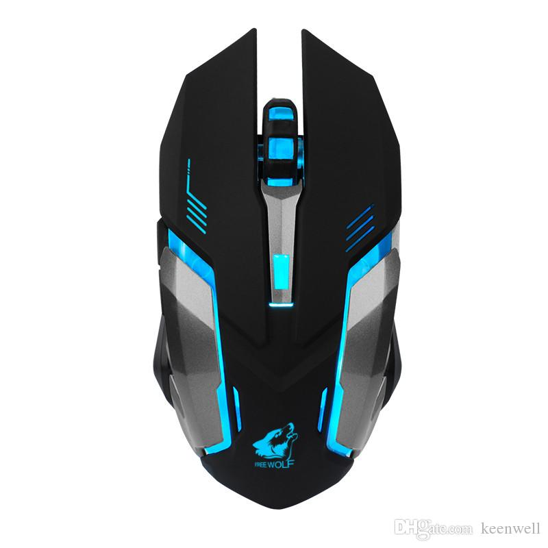 NEW LED Backlit Rechargeable 2.4GHz Wireless USB Optical Gaming Mouse Mice US EO