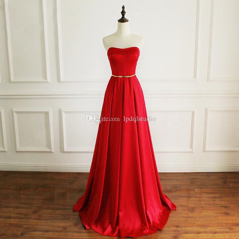 Vestidos de noche largos y rojos