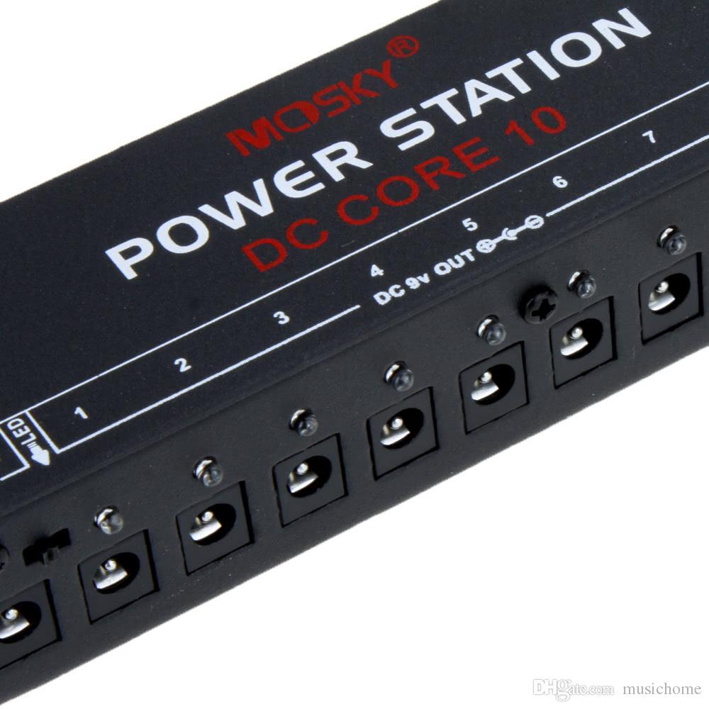 Mosky 10 Mini Gitar Efektleri Pedal Için İzole Çıkışları Güç Kaynağı ABD / AB / İNGILTERE Tak