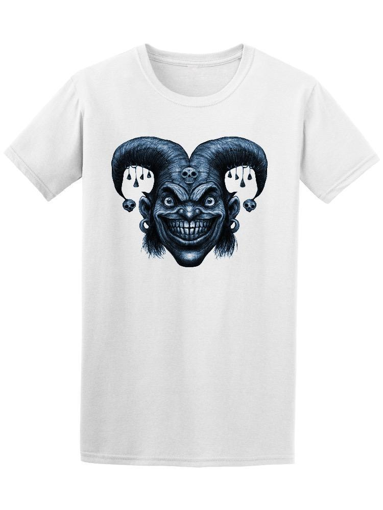 Laughing Creepy Angry Joker Head Men's Tee -Image by Shutterstock