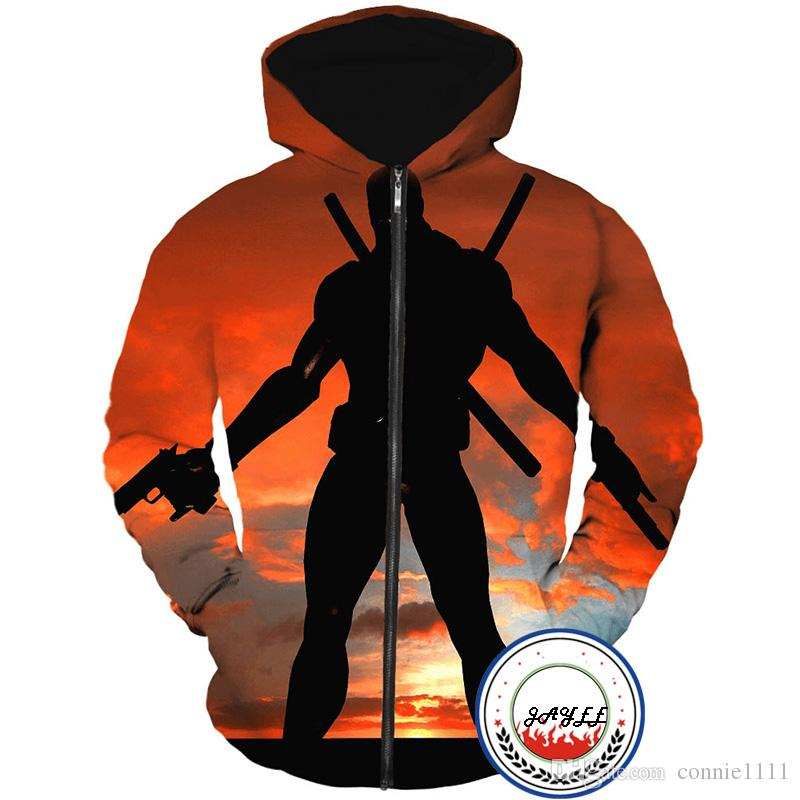 Acquista Felpa Con Cappuccio Zipper Felpe Con Cappuccio Deadpool Felpa Con  Cappuccio Uomo Donna Giacca Con Tasche Tasche Outwear Di Moda Causale Top  Sweater ... e271144cdd7