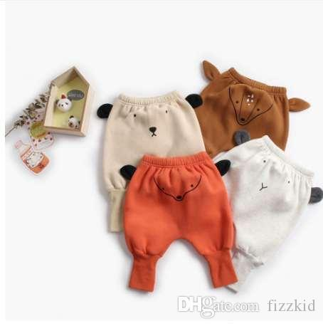 b091f3d98 Winter Pants For Kids Animal Pattern Mid Waist Cotton Harem Pant For ...