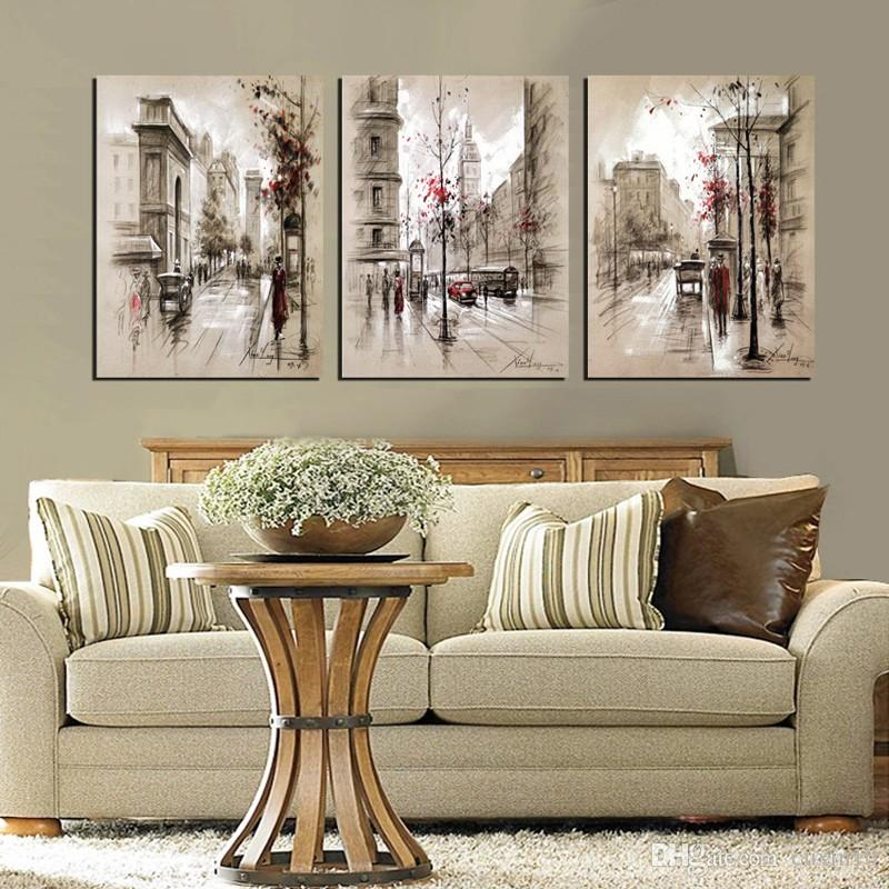 Acquista No Frame City Street Wall Art Picture Stampe Su Tela ...