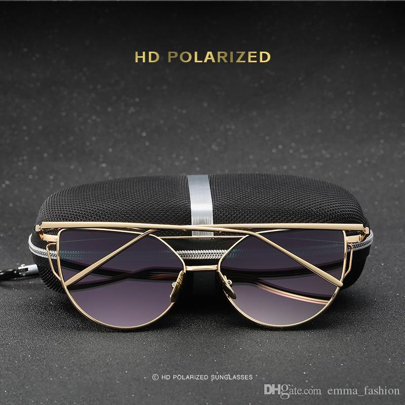 Luxury Sunglasses For women Brand Design Fashion Sunglasses Wrap Sunglass Pilot Frame Coating Mirror Lens Carbon Fiber Legs without box A-20