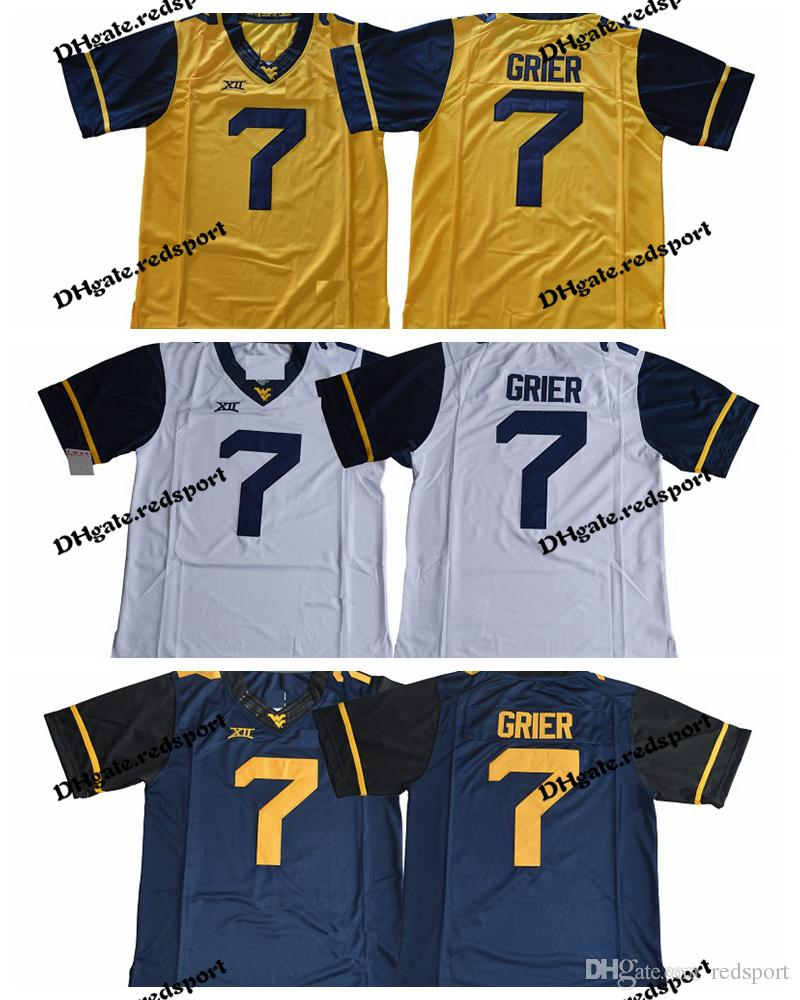 2019 2018 NEW West Virginia Mountaineers Will Grier College Football  Jerseys Mens 7 Will Grier Stitched University Football Shirts From  Redsport d2a7dc105