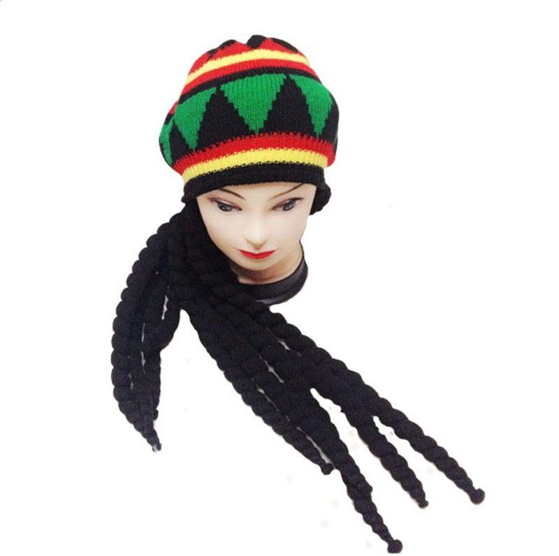 Compre Hombres Mujeres Jamican Rasta Hat Dreadlocks Peluca Bob Marley  Caribbean Fancy Dress Prop Unisex De Punto Beanie Hat A  8.25 Del Lxy1985  f1b0e81fdb5