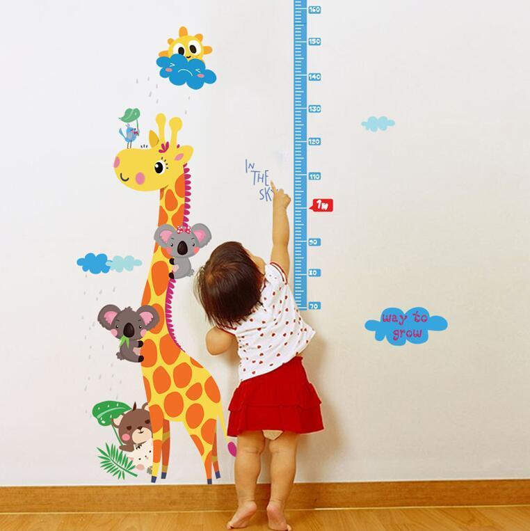 Kids Hoogte Grafiek Muursticker Interieur Giraf Hoogte Heerser ...