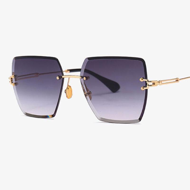Compre Moda 2019 Óculos De Sol De Luxo Mulheres   Homens Marca Designer De  Óculos De Condutor Lady Pink Cristal Sem Aro Óculos De Sol Oculos Gozluk De  ... 5469beab4e