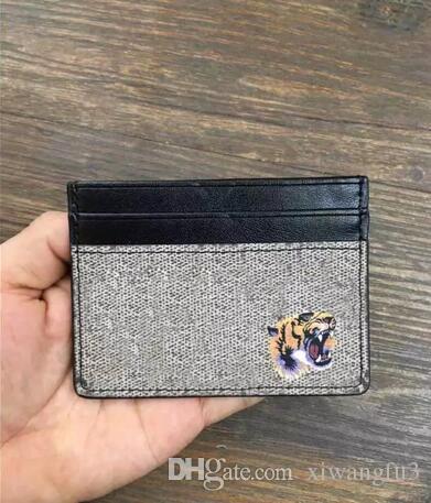 2018 Wholesale original box luxury real leather multicolor date code short wallet Card holder women man classic zipper pocket Victorine