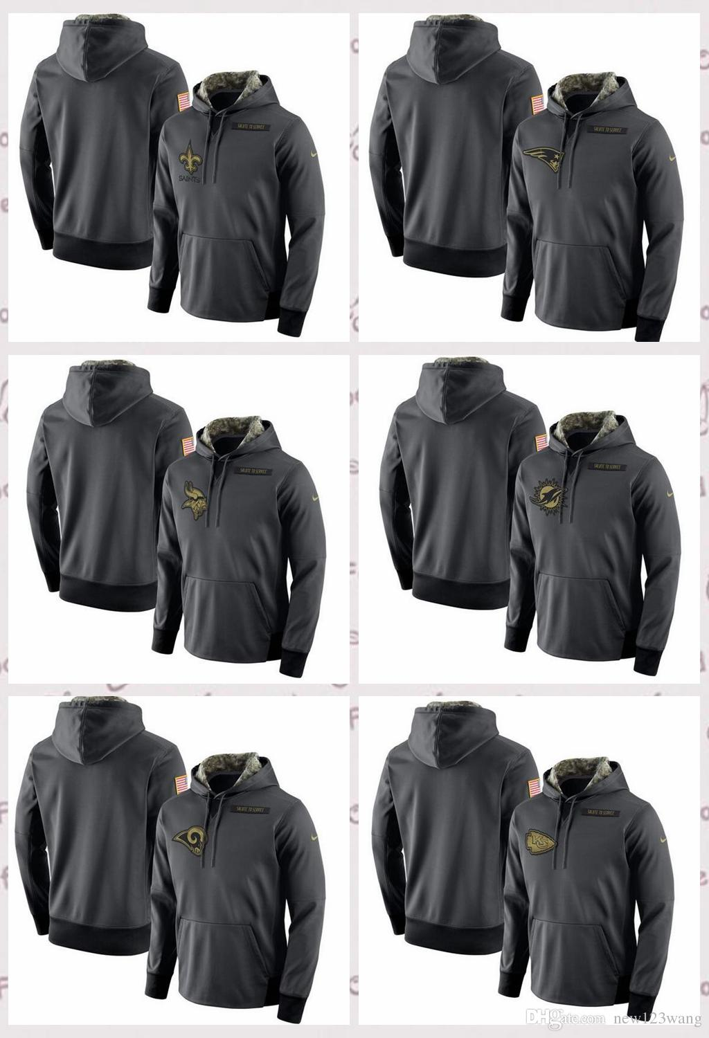newest 8203c 453d4 New Orleans Saints Kansas City Chiefs Los Angeles Rams Miami Dolphins  Minnesota Vikings Salute to Service Player Performance Hoodie