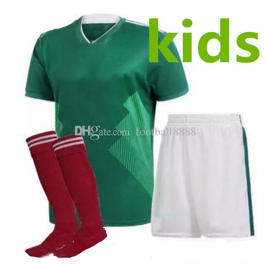 17ed68fe494 Top 2018 World Cup Mexico Soccer Jersey Kids Kit 2018 Mexico Home ...