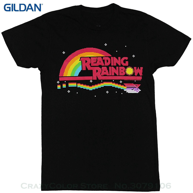 Personalized T Shirt Custom T Shirt Reading Rainbow Mens T Shirt 8