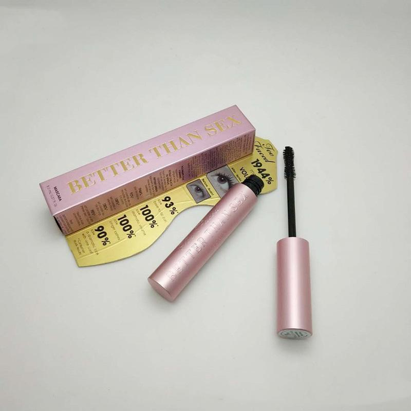 In stock Newest T F BetterThan Sex Mascara Rose gold Better than Love Cool Black Mascara Pink Package DHL Top qualtity!
