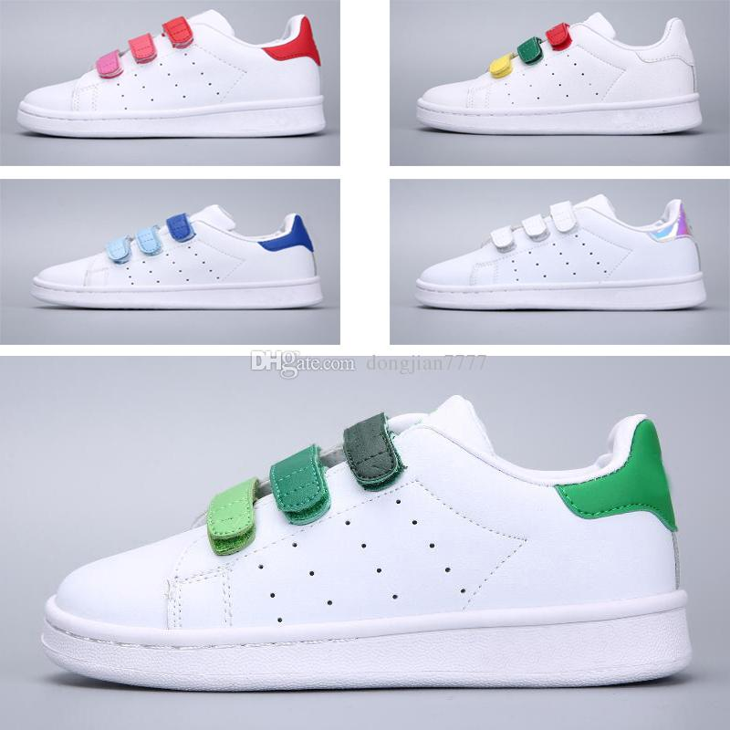 07bd2759c94 SUPER STAR Kids NEW STANSMITH Grils SNEAKERS CASUAL LEATHER Children Shoes  SPORTS JOGGING SHOES Boys CLASSIC FLATS Running SHOES Toddlers Running Shoes  ...