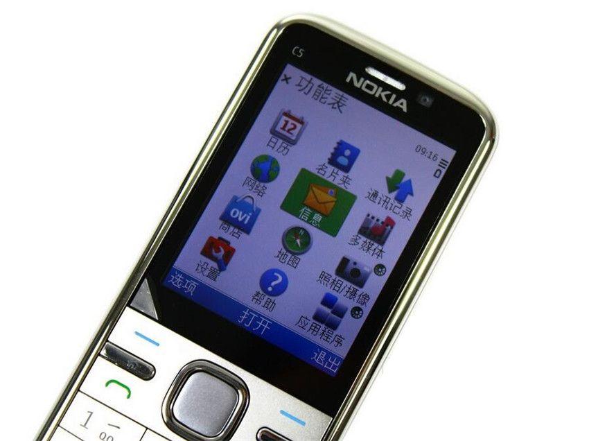 Refurbished Original Nokia C5-00 Unlocked Mobile Phone 3.15MP Camera 3G Bluetooth FM GPS Bar Cell Phone Free Post