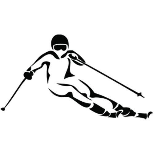 Snowboarder Vinyl Auto Aufkleber Auto Kreative Persönlichkeit Skifahren Körper Abziehbilder