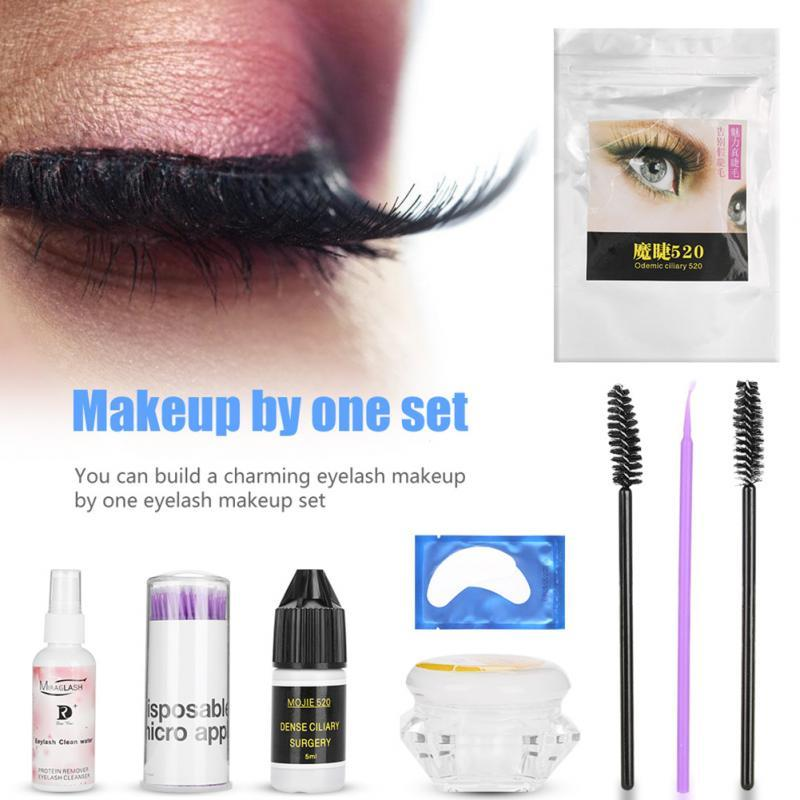 One Set Eyelash Makeup Tools Eyelash Extension Glue Waterproof Long