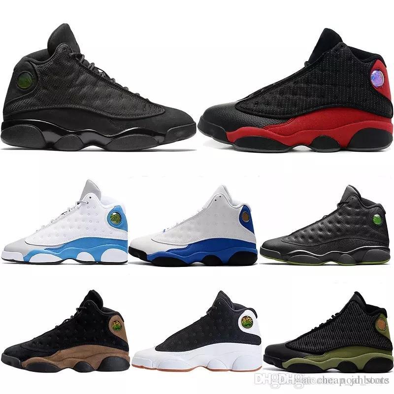 official photos 3d8f2 ee0d6 Großhandel Nike Air Jordan Aj13 Günstige 13s Männer Basketball Schuhe Weiß  Schwarze Katze 3m Reflect Doernbecher Sportschuhe Alle Weiß Schwarz  Sneakers ...