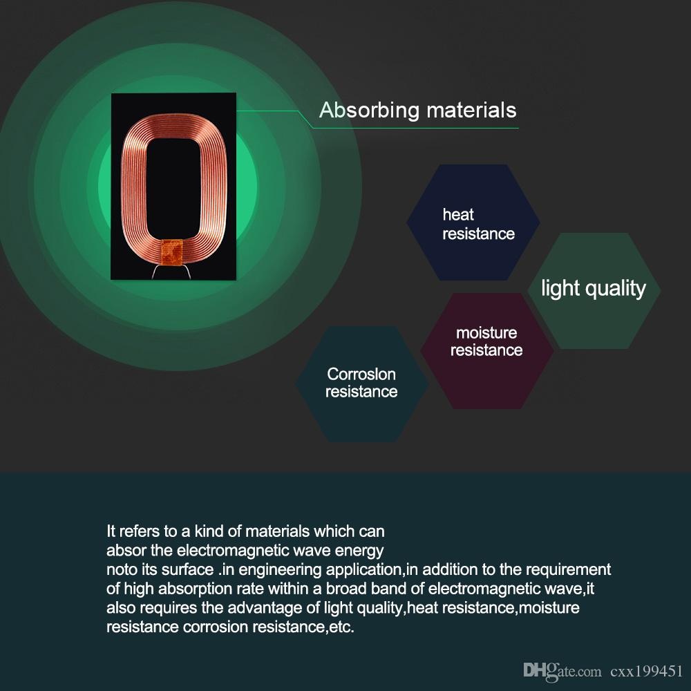 Evrensel Qi kablosuz şarj alıcı modülü hızlı hızlı şarj adaptörü samsung galaxy S3 S4 S5 iPhone için 5 6 S 6SP
