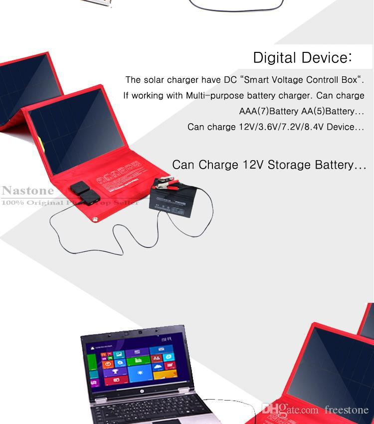 65W Portable Fold Solar charger Output USB 5V 1.3A /19V 3.4A For laptop/ iPhone/iPad/mobilephone/Digital /MP3/4 GPS/Powerbank/ Any 5V Device