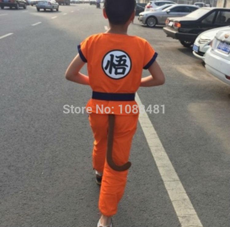 Dragon Ball Z suit Son Goku косплей костюмы топ/брюки/пояс/хвост/запястье/парик/обувь
