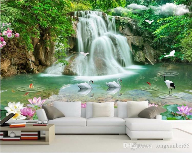 Custom Photo Wallpaper Mural Wall Sticker Stereo Landscape