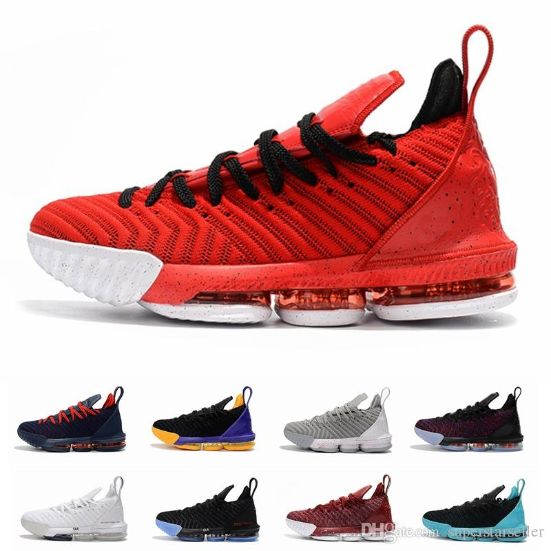 Lebron 16 Mens Basketball Shoes James 16 What The Fresh Bred Triple