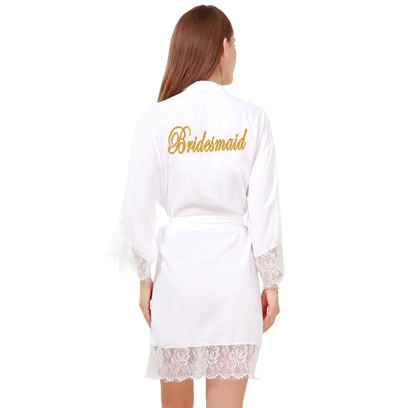 2019 Bridesmaid Cotton Silk Robes Women S Lace Trim Kimono Robe Nightwear  Nightgown Sleepwear Satin Short Robe Customized Silk Robes From Hannahao d3548be4c