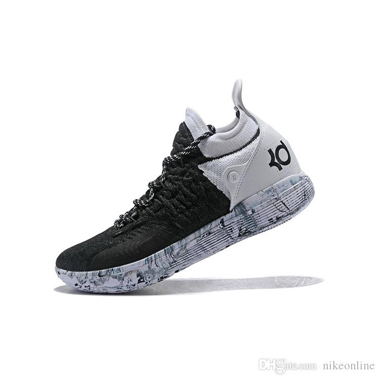 863032cb69ab 2019 Cheap New 2018 Men KD 11 XI Basketball Shoes Gray White Black Red Air  Flights Kevin Durant KD11 Sneakers Boots With Original Box For Sale From ...