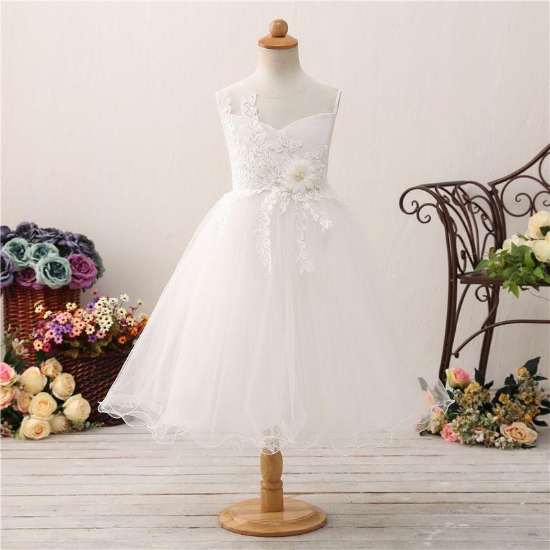 025f9c48fdba7 Cheap Size Kids Flower Girl Dresses Discount Pretty Jewel Flower Girl Dress