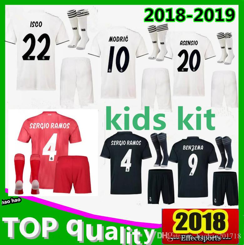 7db6becb5 Kids Kits 2018 2019 Real Madrid Soccer Jersey 18 19 CR7 RONALDO ...