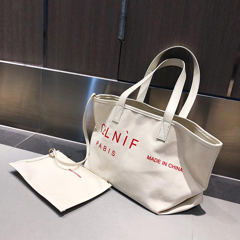 3dff391ec8c7 RANYUE Canvas Bag Vintage Canvas Shoulder Bag Women Handbag Fashion ...