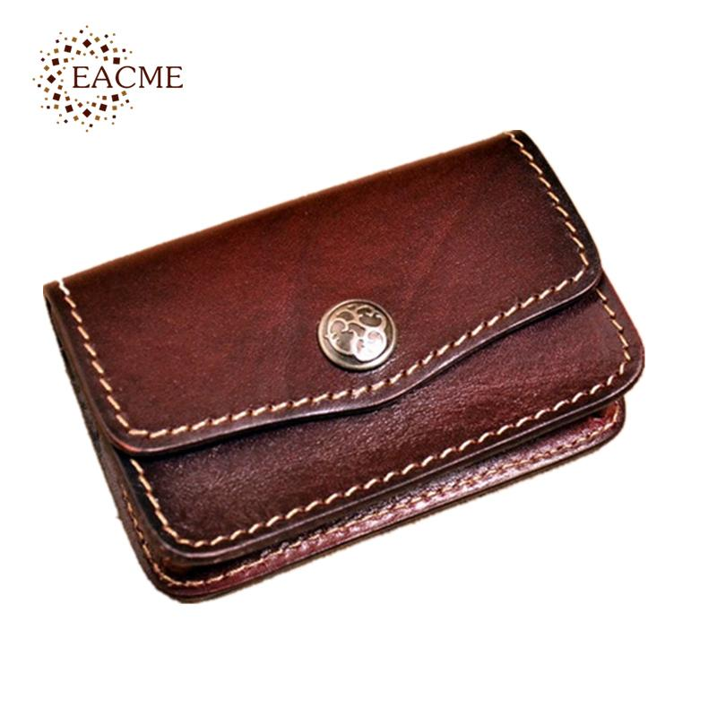 Eacme handmade business card holder bank card bag packs exquisite eacme handmade business card holder bank card bag packs exquisite coin package wallets plant tanned leather id case womens wallets leather goods from colourmoves