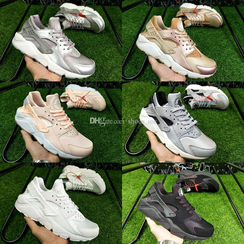 0ae86cc949a3b 2018 New Air Huarache Rainbow Sky Blue Running Shoes for Men And Women  Huaraches Ultra Shoes Multicolor Black Huarache White Sneakers Huarache  Running Shoes ...