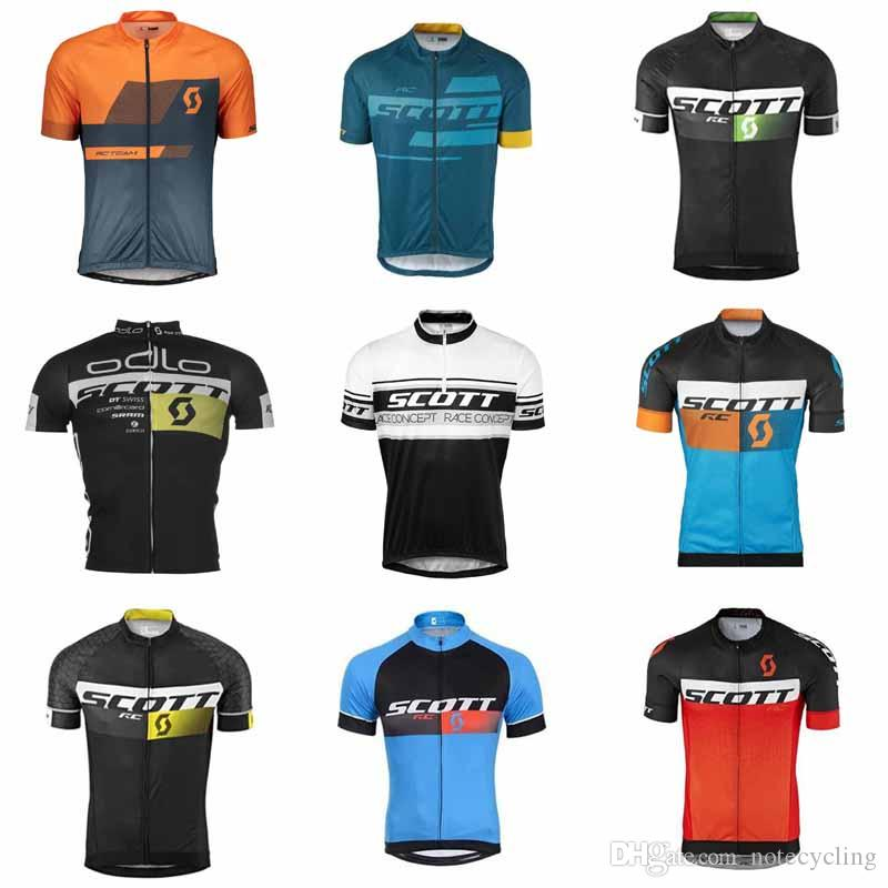 2018 Men SCOTT Cycling Jersey Short Sleeve Bicycle Shirt Road Bike Clothes  Breathable Outdoor Clothing Ropa Ciclismo Factory Direct Sale F08 Bib Shorts  ... bf853fd54