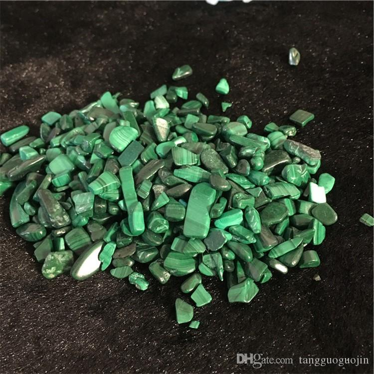 wholesale 50g Natural malachite Crystal Stone Rock Chips Specimen Lucky crystal love natural stones and minerals Fish Tank stone