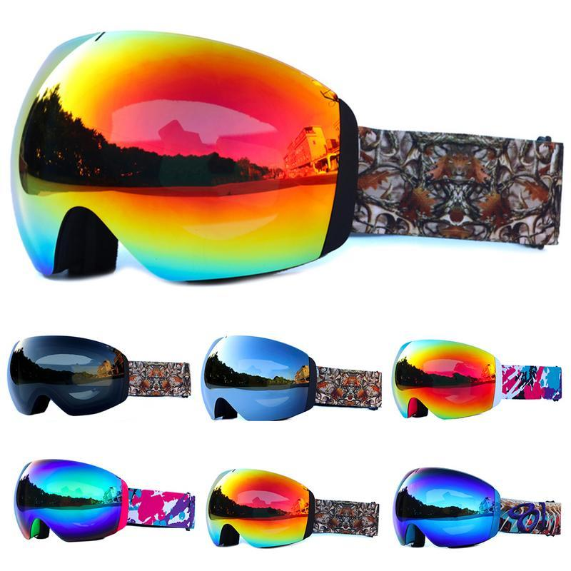 45908586f040 Ski Goggles Double Layers Anti-fog Big Ski Mask Glasses Skiing Men ...