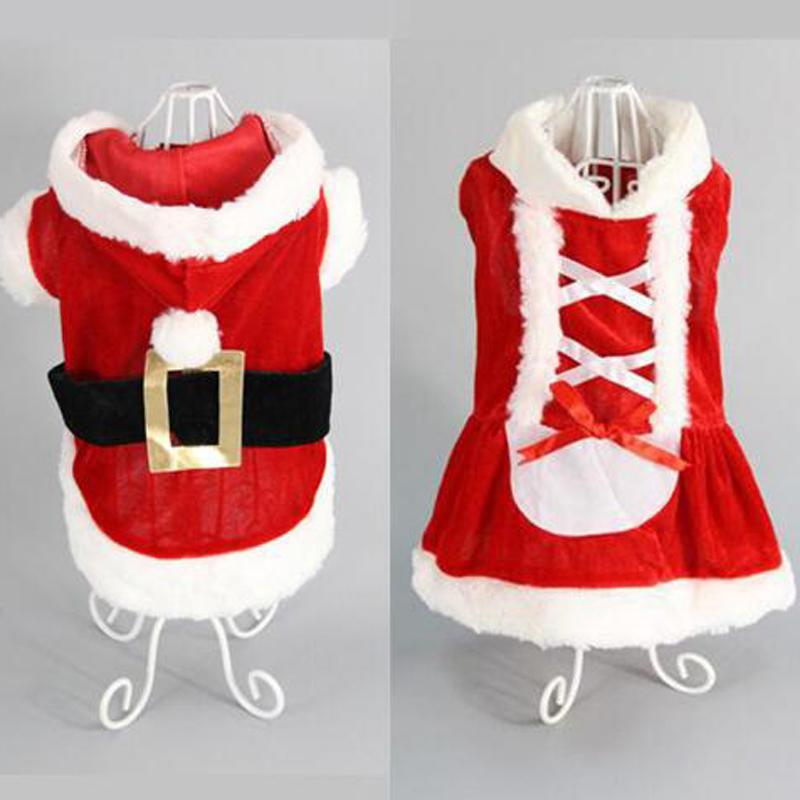 5 Size dog costume Christmas dog transformed dress santa suit classic Euramerican pet dog Christmas clothes pets apparel wholesale