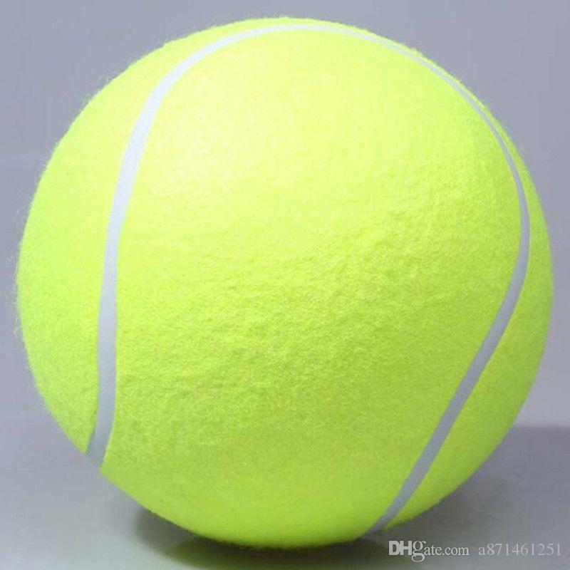 2019 2018 24cm Big Inflatable Tennis Ball Giant Pet Toy Tennis Ball
