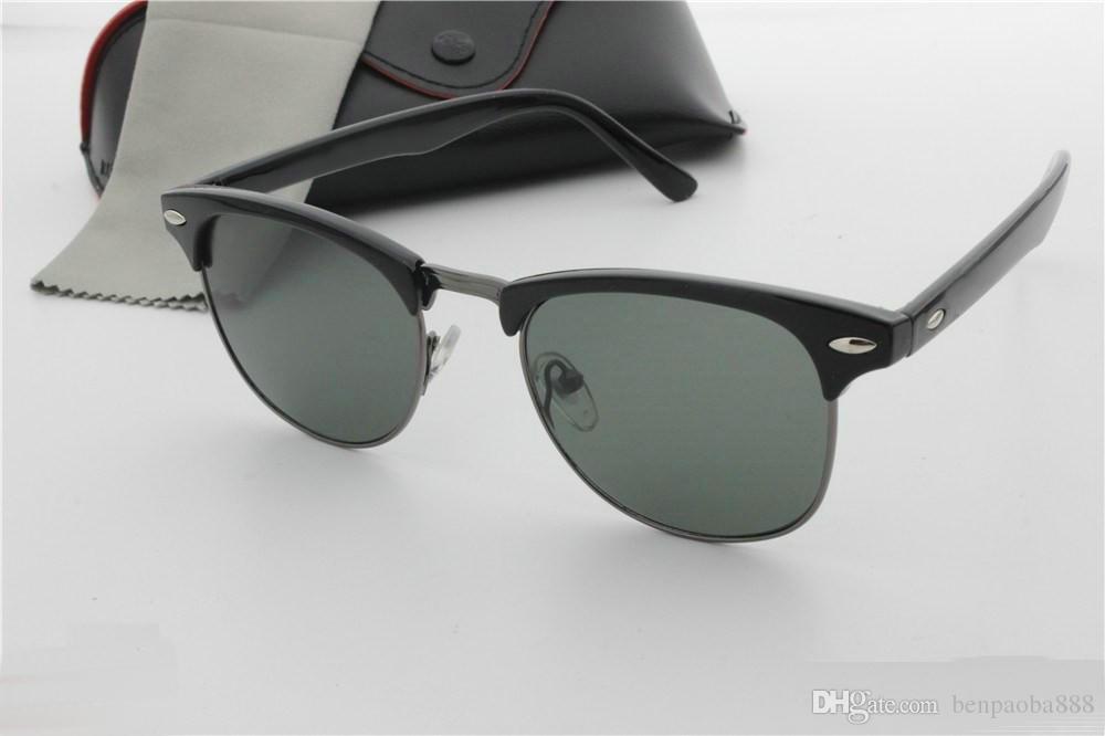 Mens Womens Designer Sunglasses Semi Rimless Sun Glasses Gold Frame ...