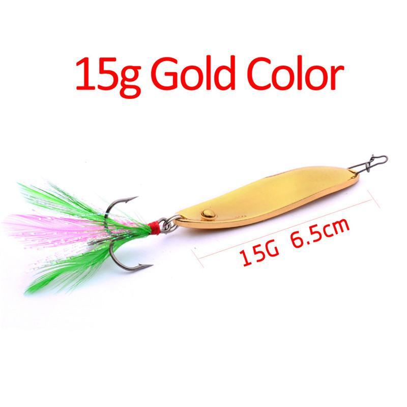 2018 Oro Argento Metallo Dipinto Jigging Lure Spoon Bait 8g 11g 15g 3 Formati Iron Laser Jigs esche