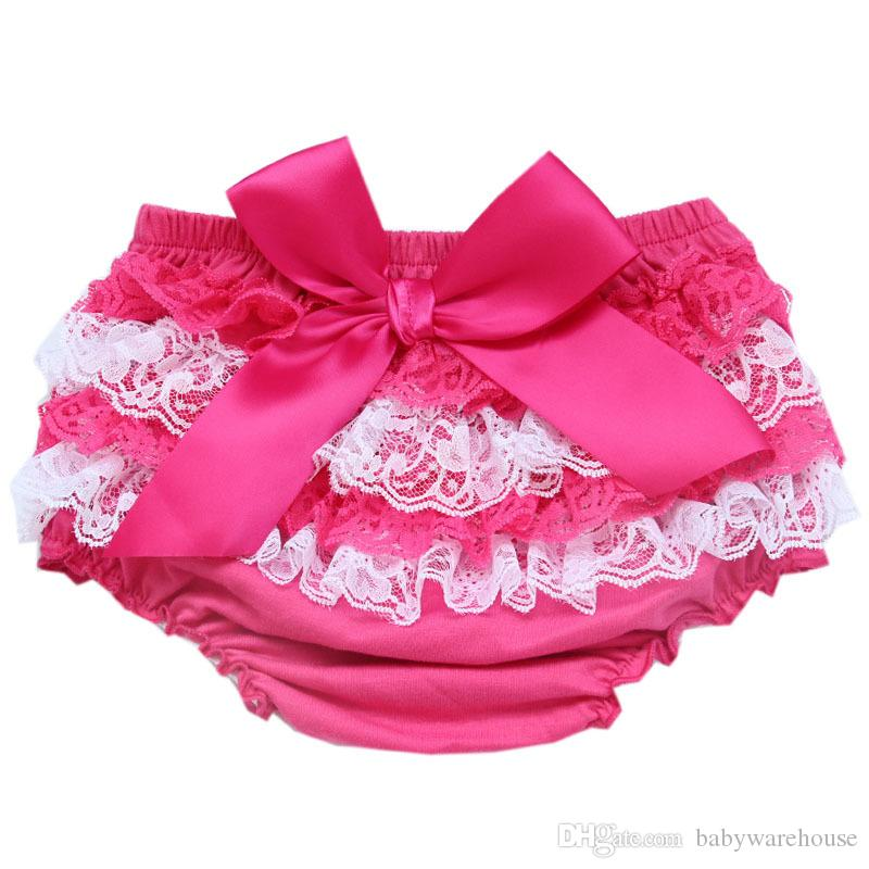 Kids Clothing Ruffle Lace Baby Bloomers Diaper Cover Newborn Tutu Ruffled PP Shorts Panties Baby Girls Clothes Infant Toddler Baby Shorts