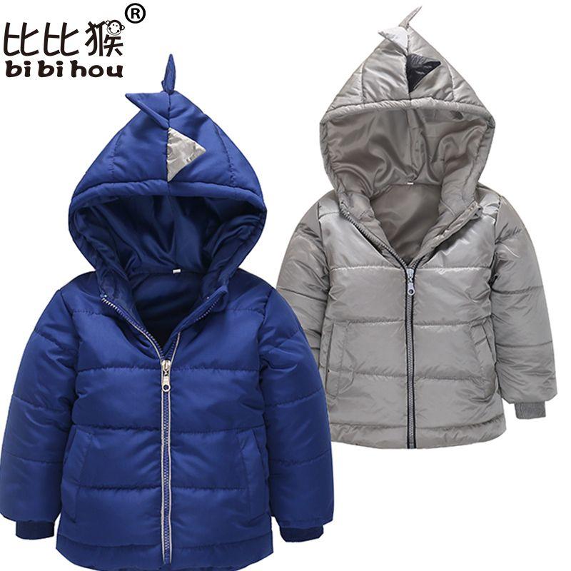 3656afb877c6 куртки для мальчиков толстовки вниз куртка дети#39;s верхняя одежда amp;  пальто зима носить новорожденных девочек теплая детская одежда динозавр  мультфильм