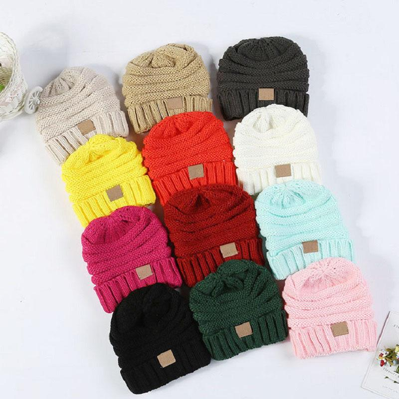 5c14859204a Winter Hats For Kids Winter Knitted CC Trendy Hats Babies Knitting Beanie  Kids Fashion Warm Caps Childrens Casual Accessories C18111601 Beanies For  Women ...