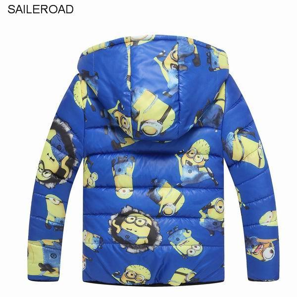 SAILEROAD зима дети мальчики хлопок ватник дети дети мальчики теплая верхняя одежда ватные куртки 3-10Yeaes