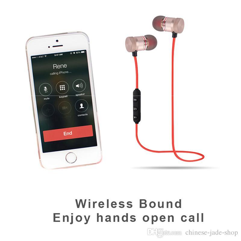 Kopfhörer-M9 Sport-drahtloses Bluetooth Kopfhörer-Metallmagnetisches laufendes Stereosuperbaß-Kopfhörer-Geräusch verringern mit Mic im Kleinverkauf /