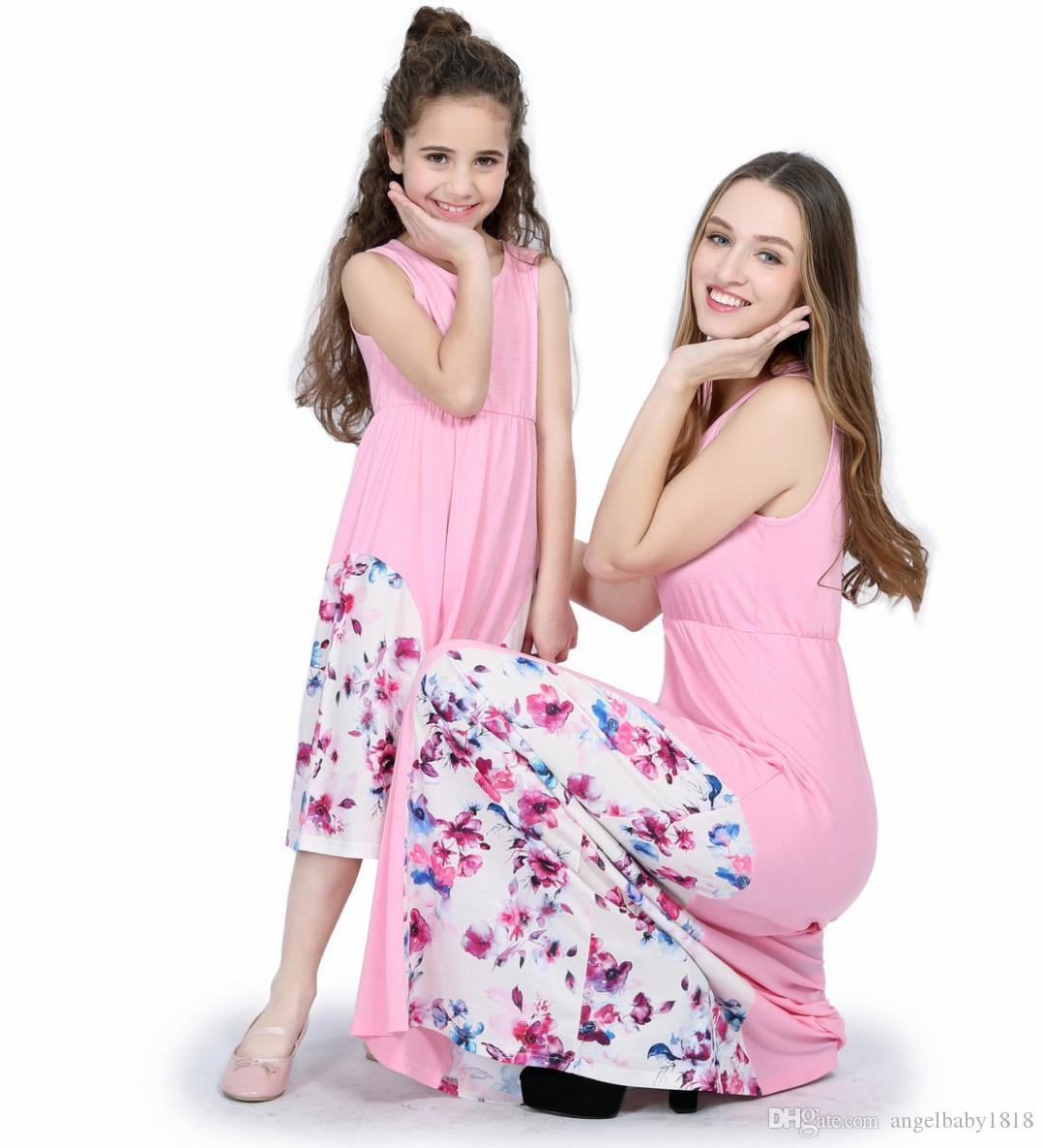 Summer Mother Daughter Dresses Mom Girls Mommy and Me Family Matching Clothes Party Dress parent child outfits Family Look Set