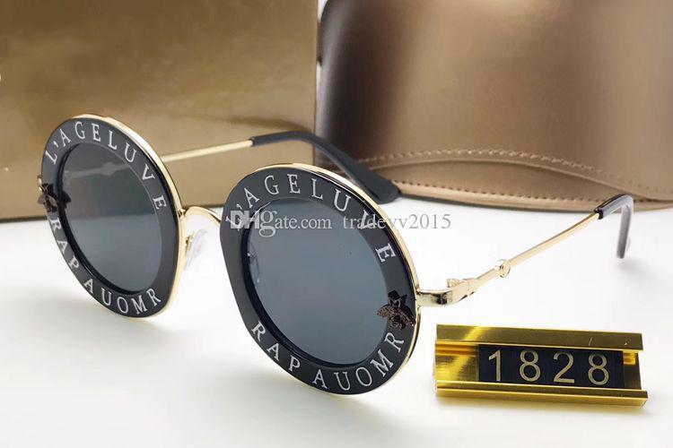 Compre 2018 El Más Nuevo Envío Mundial Gratuito Gafas De Cuerno De Búfalo  GG0113S Círculo Gafas De Sol De Montura Redonda L Aveugle Par Amour A   21.21 Del ... aeeec1ed2fd0