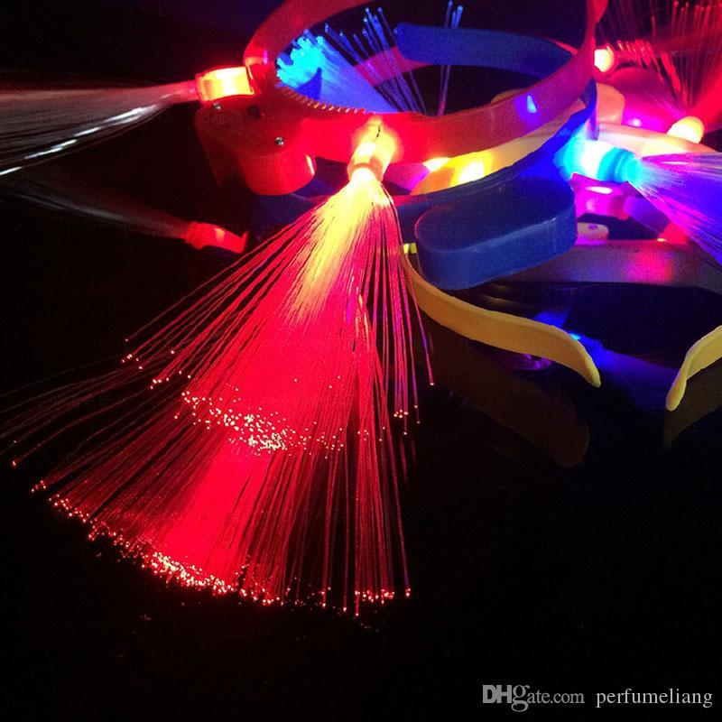Mujer Chicas Luz Diadema Fibra Intermitente Tentáculo Antena Amor Parpadeo Glow Hoop Fiesta de Año Nuevo ZA5654