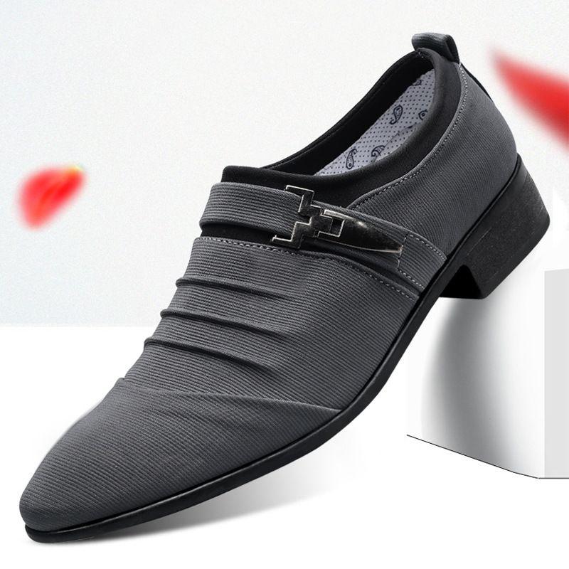 7cc8b8ac Compre Zapatos Oxford De Oficina Para Hombres Zapatos De Lona Mocasines  Oxford Zapatos Formales Para Hombre Moda Zapatos De Hombre De Vestir  Zapatilla ...